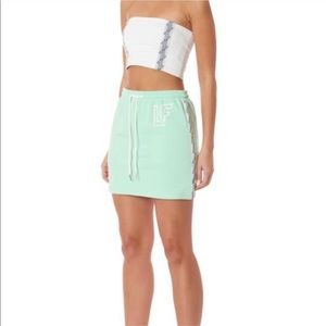 Mint Green LF The Brand Tracker Logo Mini Skirt